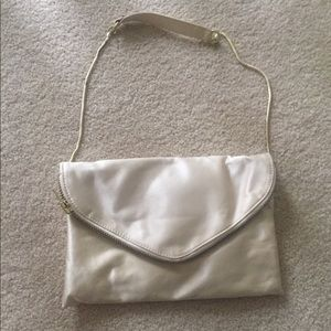 J.Crew shoulder purse/clutch in an ivory color